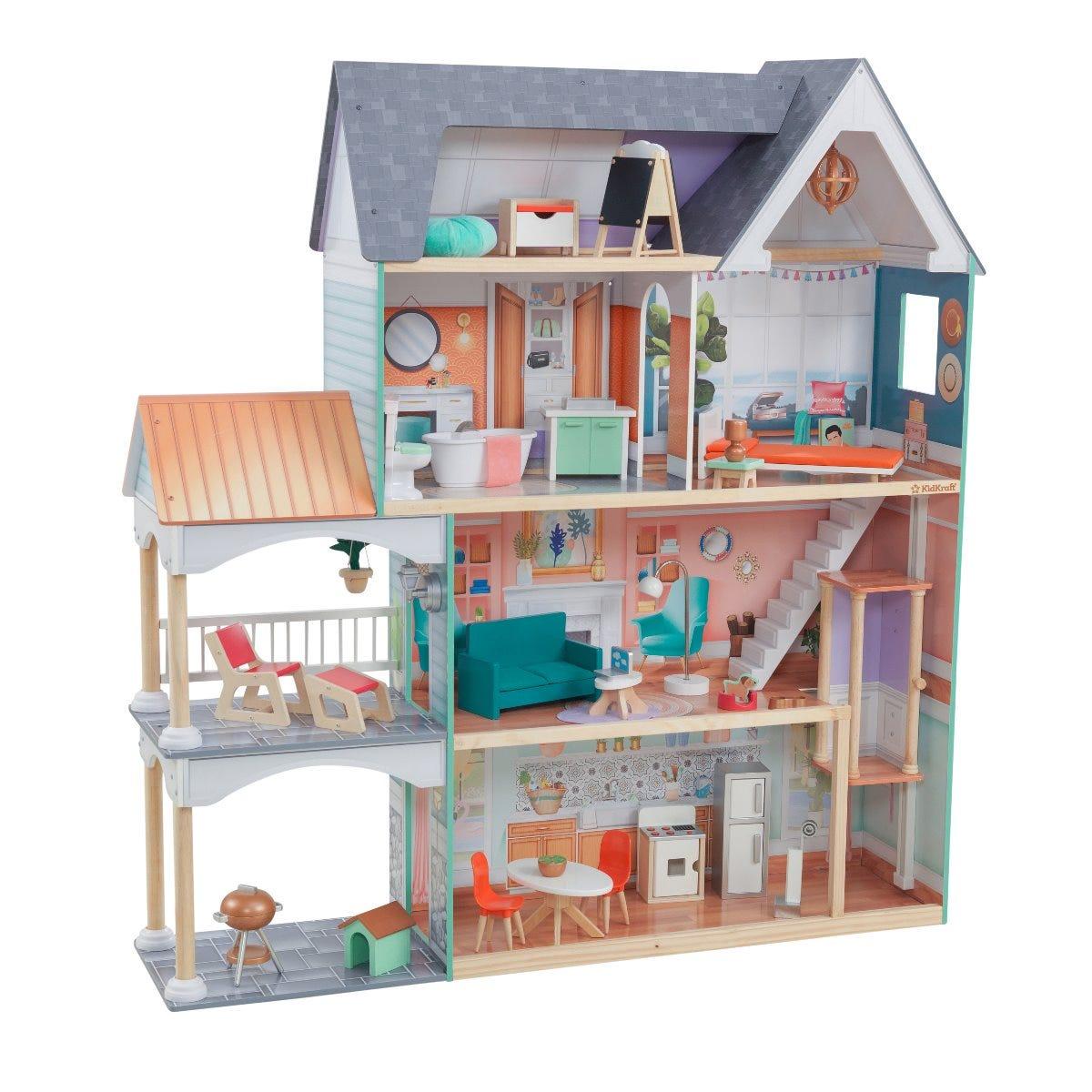 KidKraft къща за кукли с обзавеждане - Далия -bellamiestore