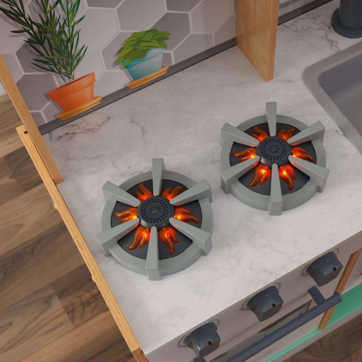 Модерна детска дървена кухня от KidKraft-bellamiestore