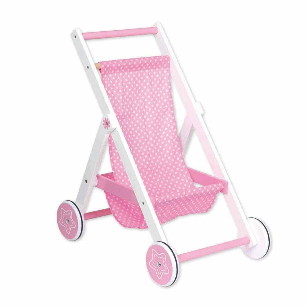 Розова лятна количка за кукли от Lelin toys-bellamiestore