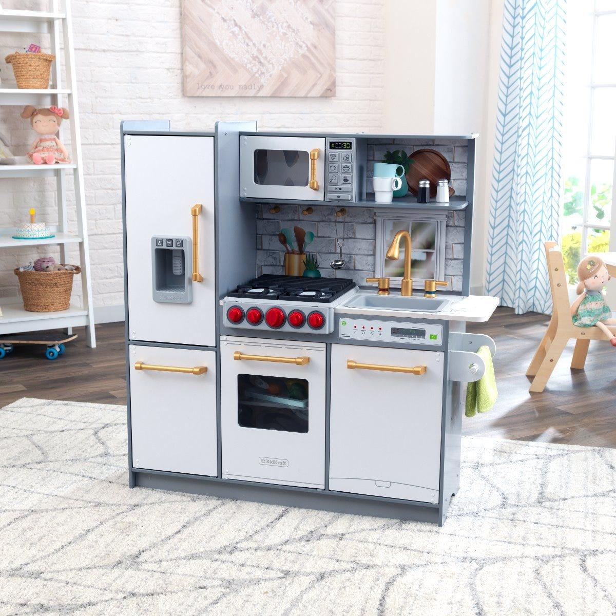 Вдъхновяваща детска дървена кухня за игра - KidKraft-bellamiestore