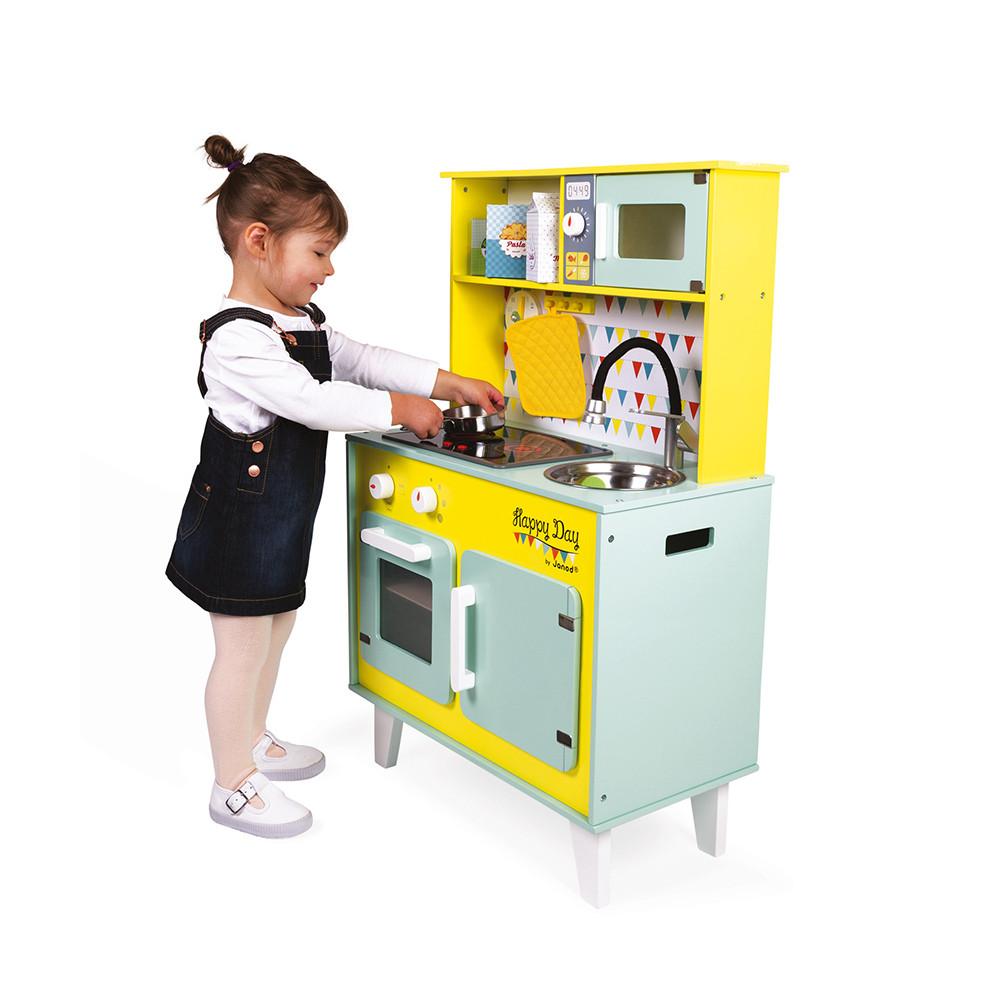 Детска дървена кухня за игра - Happy days от Janod - bellamiestore