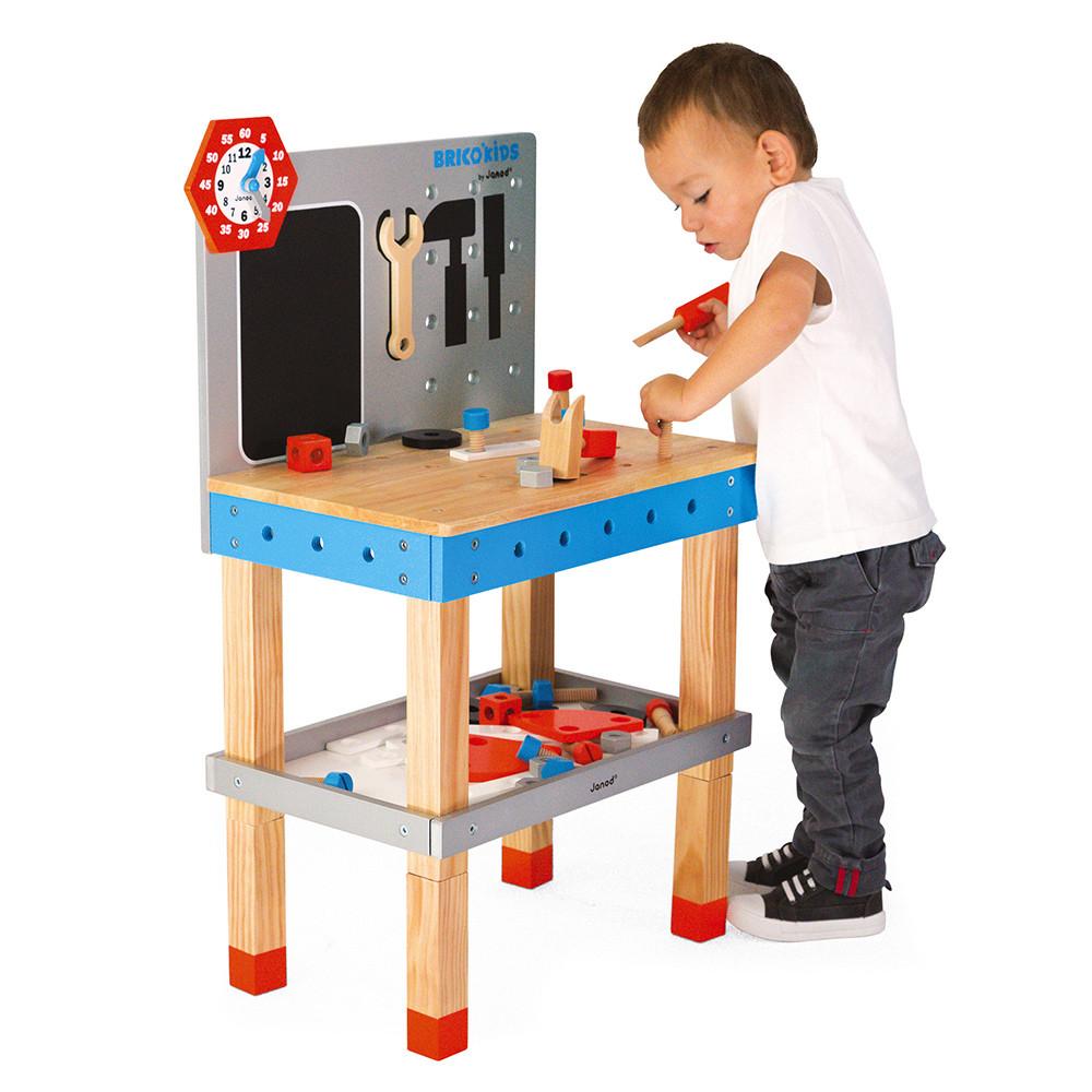 Детска дървена работилница за игра с 40 части от Janod-bellamiestore