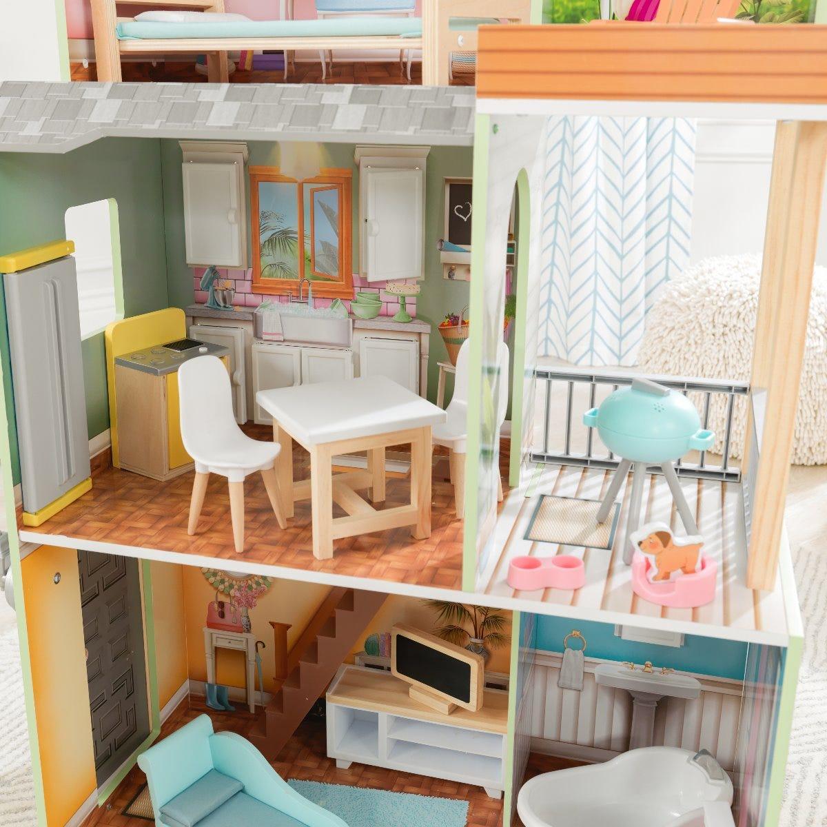 Куклена дървена къща за Барбита Хейли от Kidkraft-bellamiestore