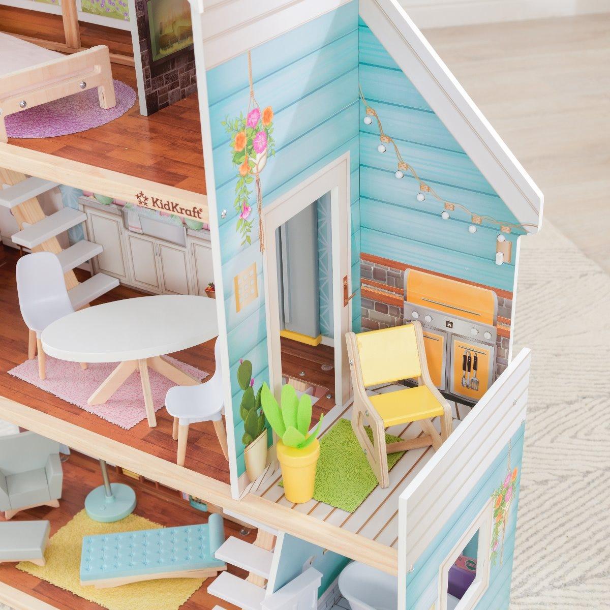 Магическа дървена къща за кукли Барби - Зои от Kidkraft-bellamiestore