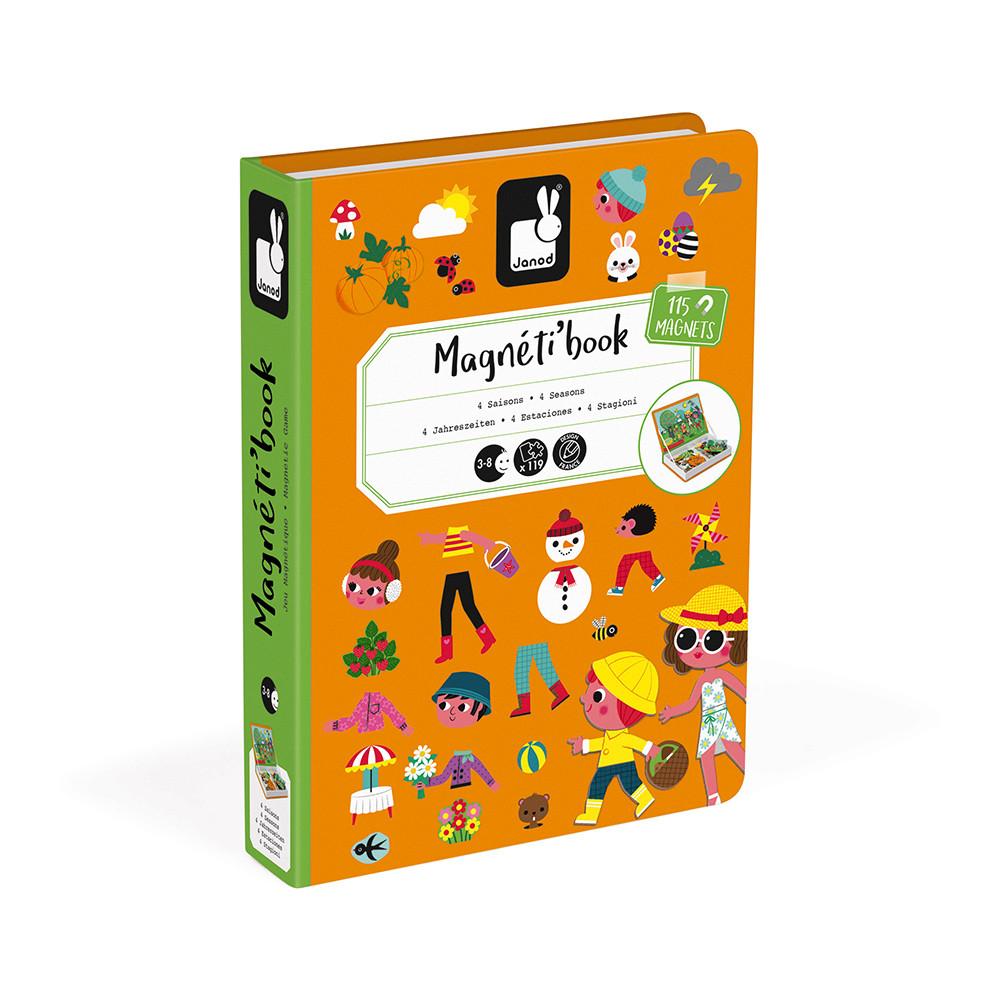 Магнитна книга - Научи сезоните от Janod-bellamiestore