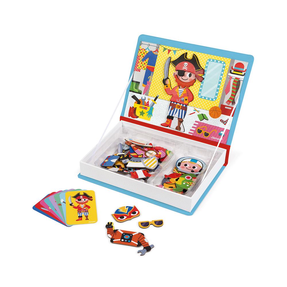 Магнитна образователна игра - Облечи момчетата от Janod-bellamiestore