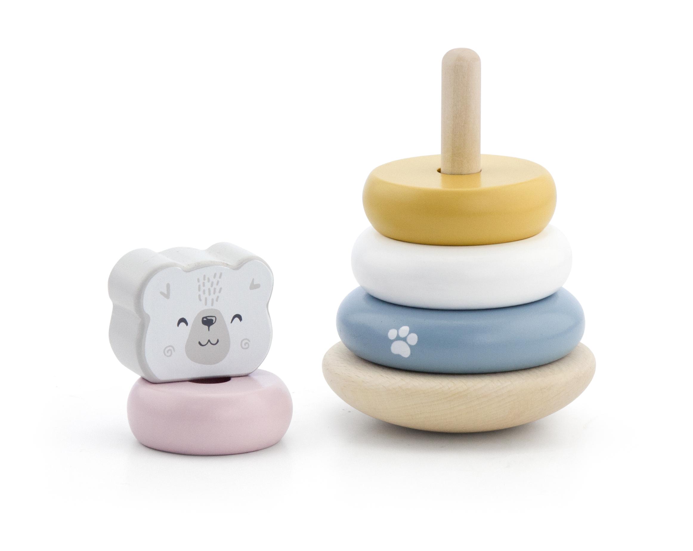 Дървена играчка - Рингове за нанизване PolarB-bellamiestore