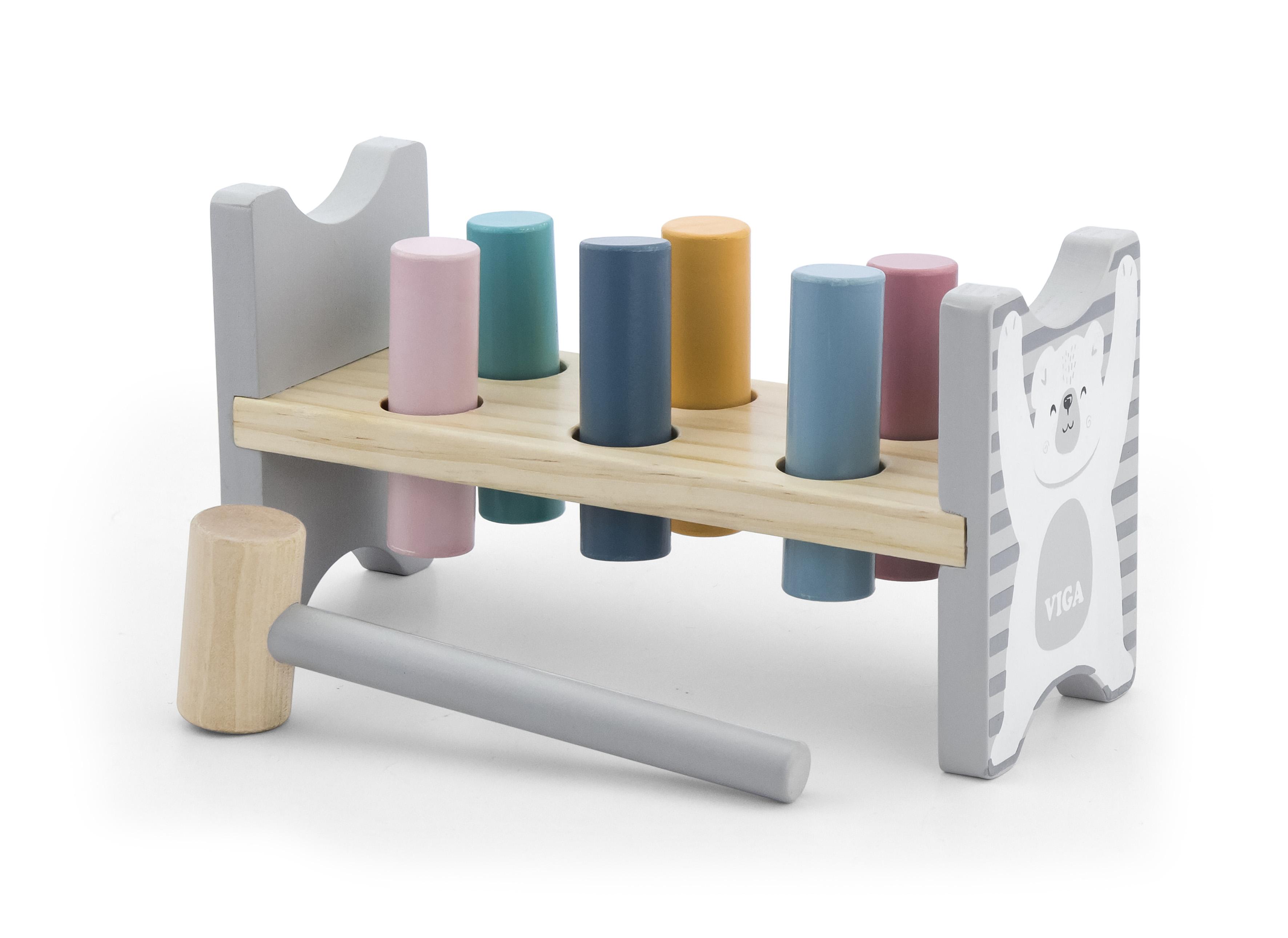 Дървена игра с чукче PolarB от Viga toys-bellamiestore