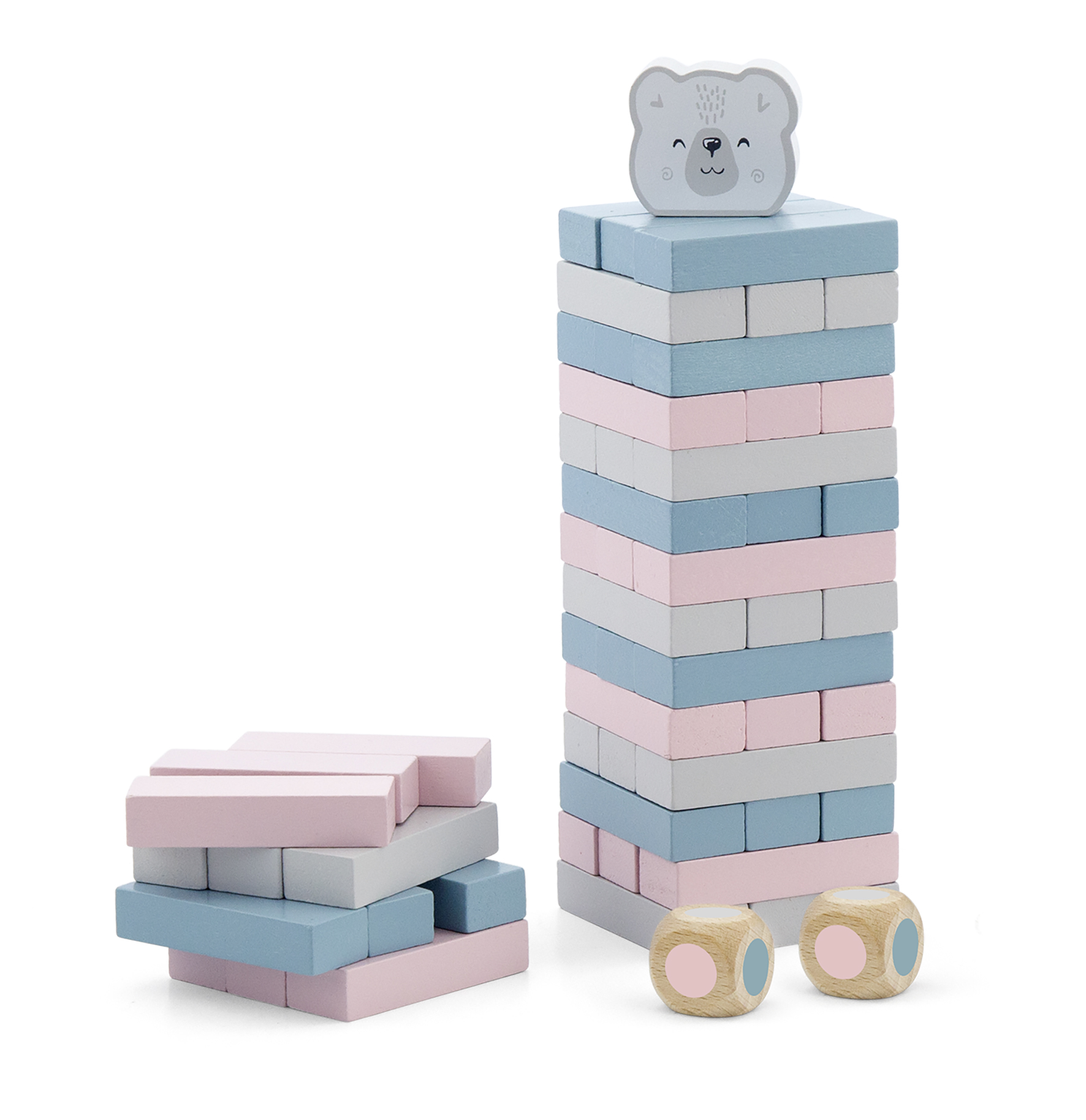 Дървена играчка - Дженга Polar B от Viga toys-bellamiestore