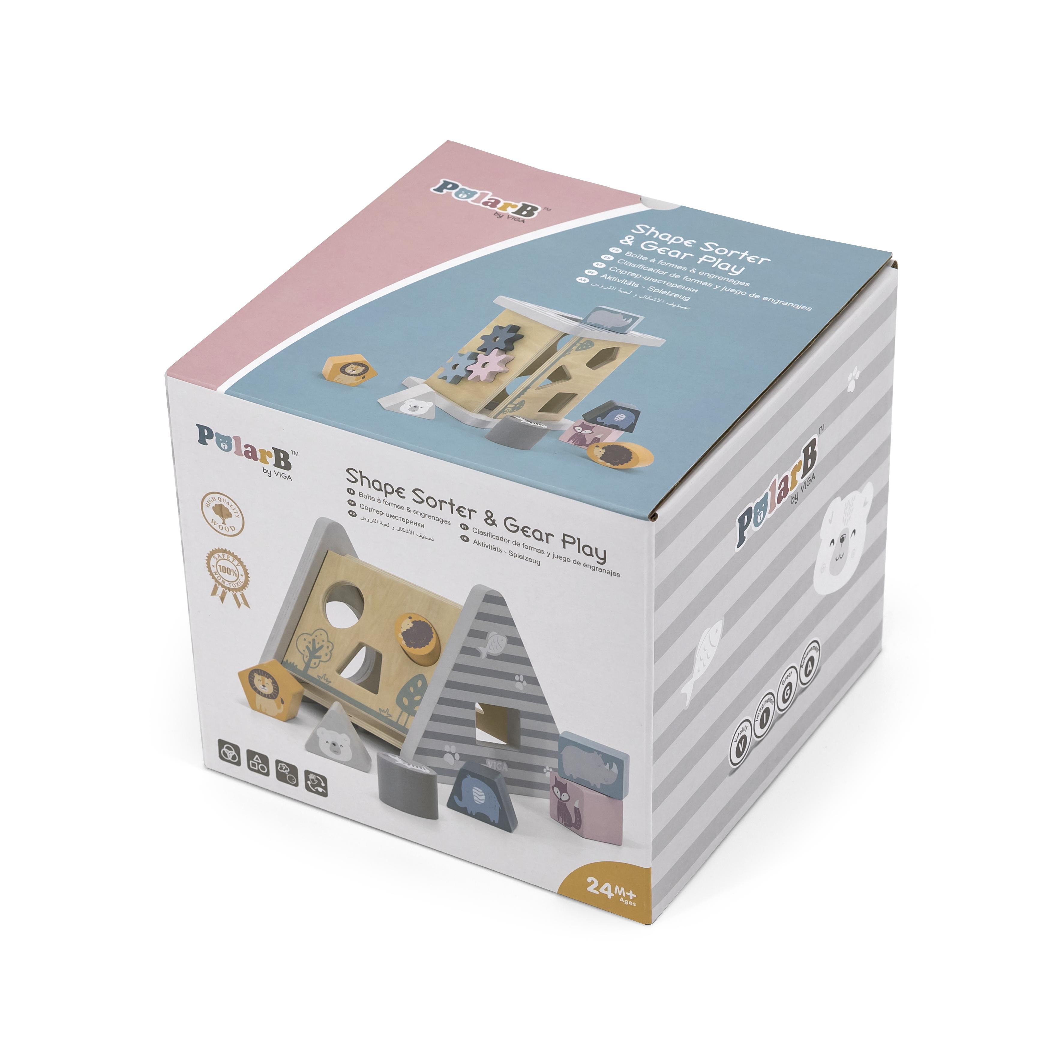 Дървена играчка с активности Polarb от Viga toys-bellamiestore