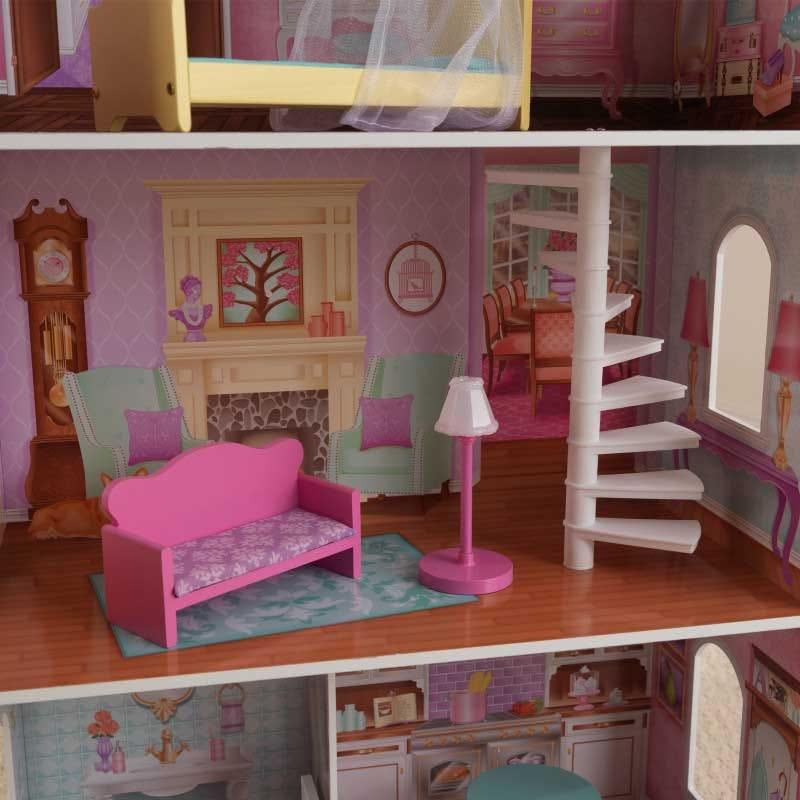 Дървена къща за кукли Барбита Пенелопе от KidKraft-bellamiestore