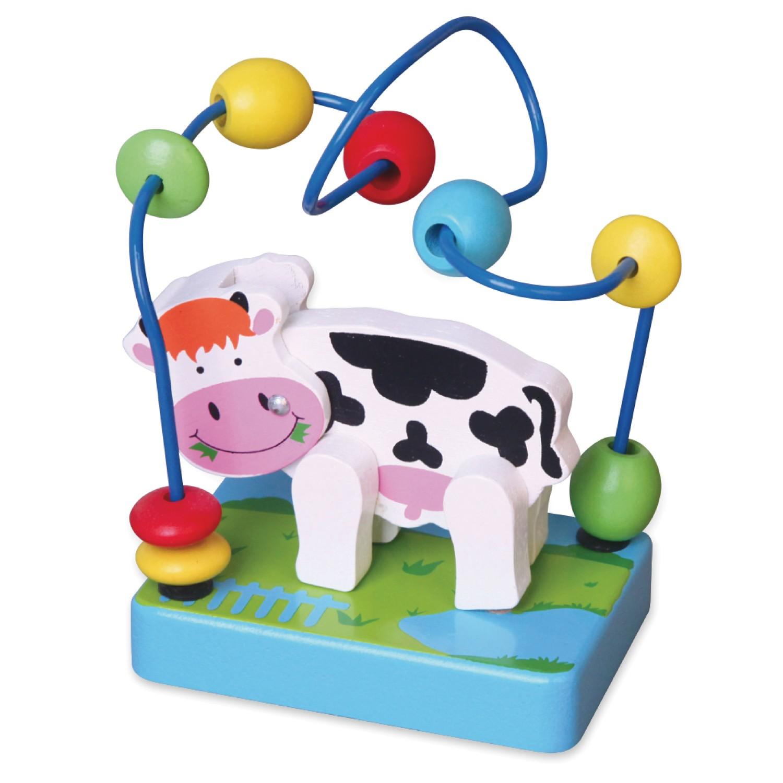 Дървена играчка лабиринт с крава - бебешка играчка от Viga toys-bellamiestore