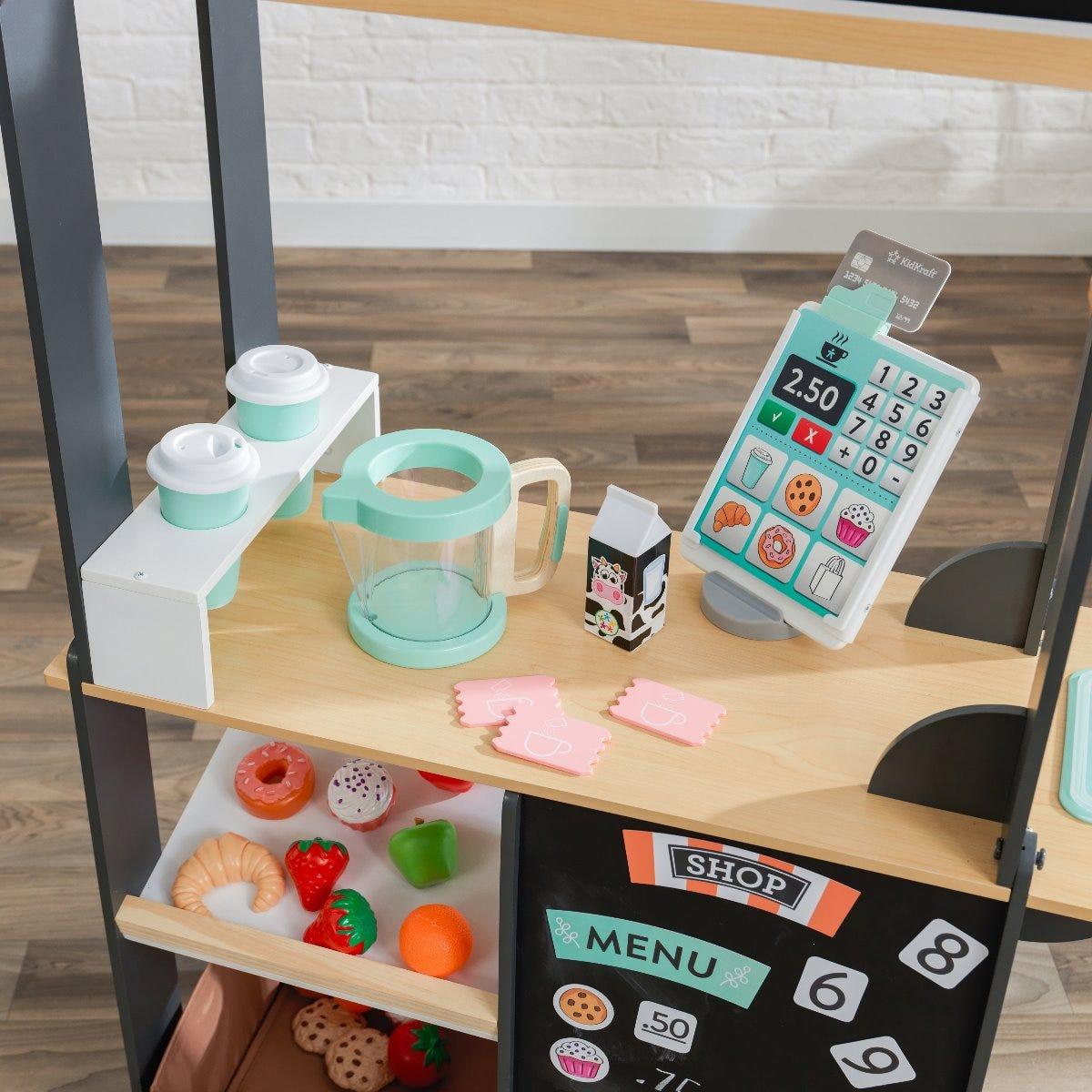 Детски дървен магази за игра с аксесоари от KidKraft-bellamiestore