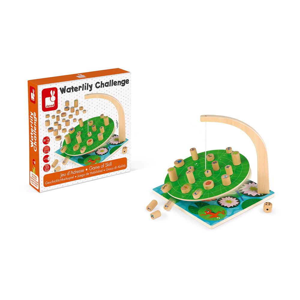 Janod - Дървена настолна игра за сръчност - Водна лилия-bellamiestore