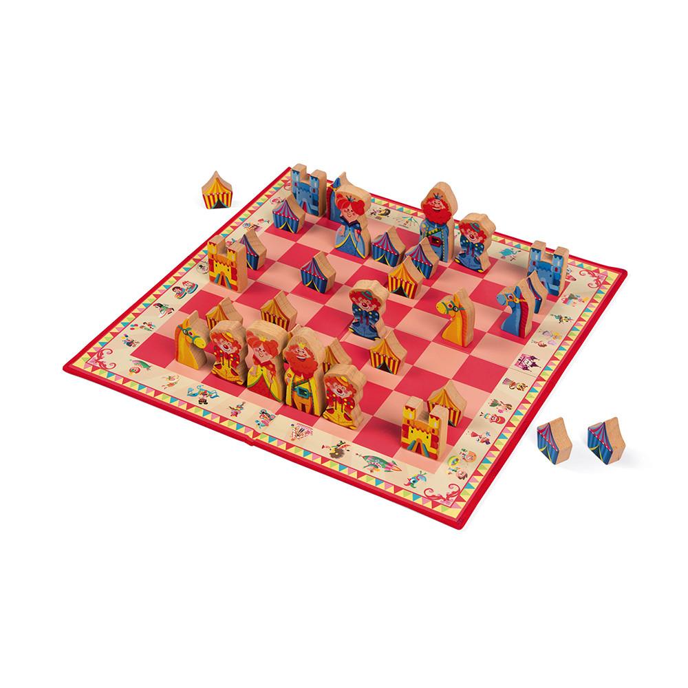 Janod Детски дървен шах - Каросел-bellamiestore