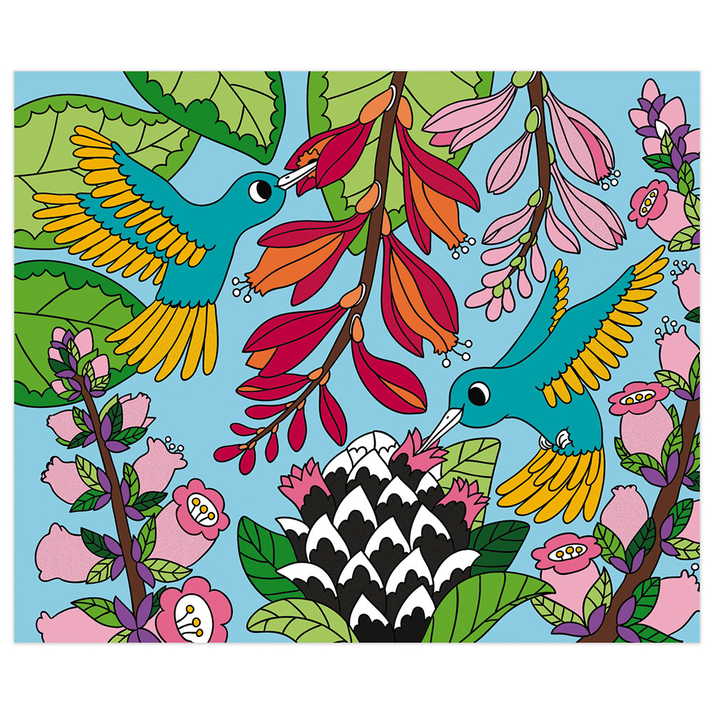 Janod - Оцвети карти с кадифе - творчески комплект-bellamiestore