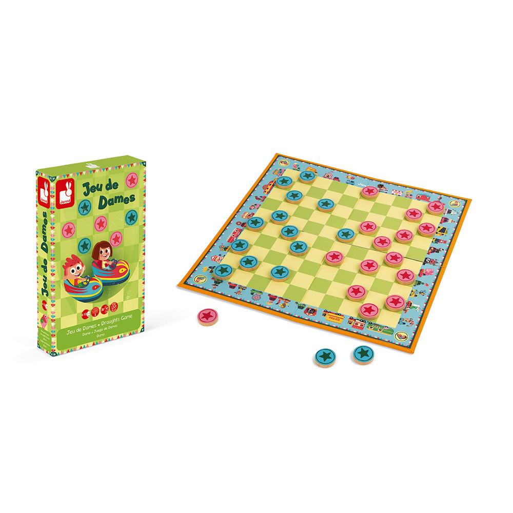 Настолна състезателна игра Дама - Шашки от Janod-bellamiestore