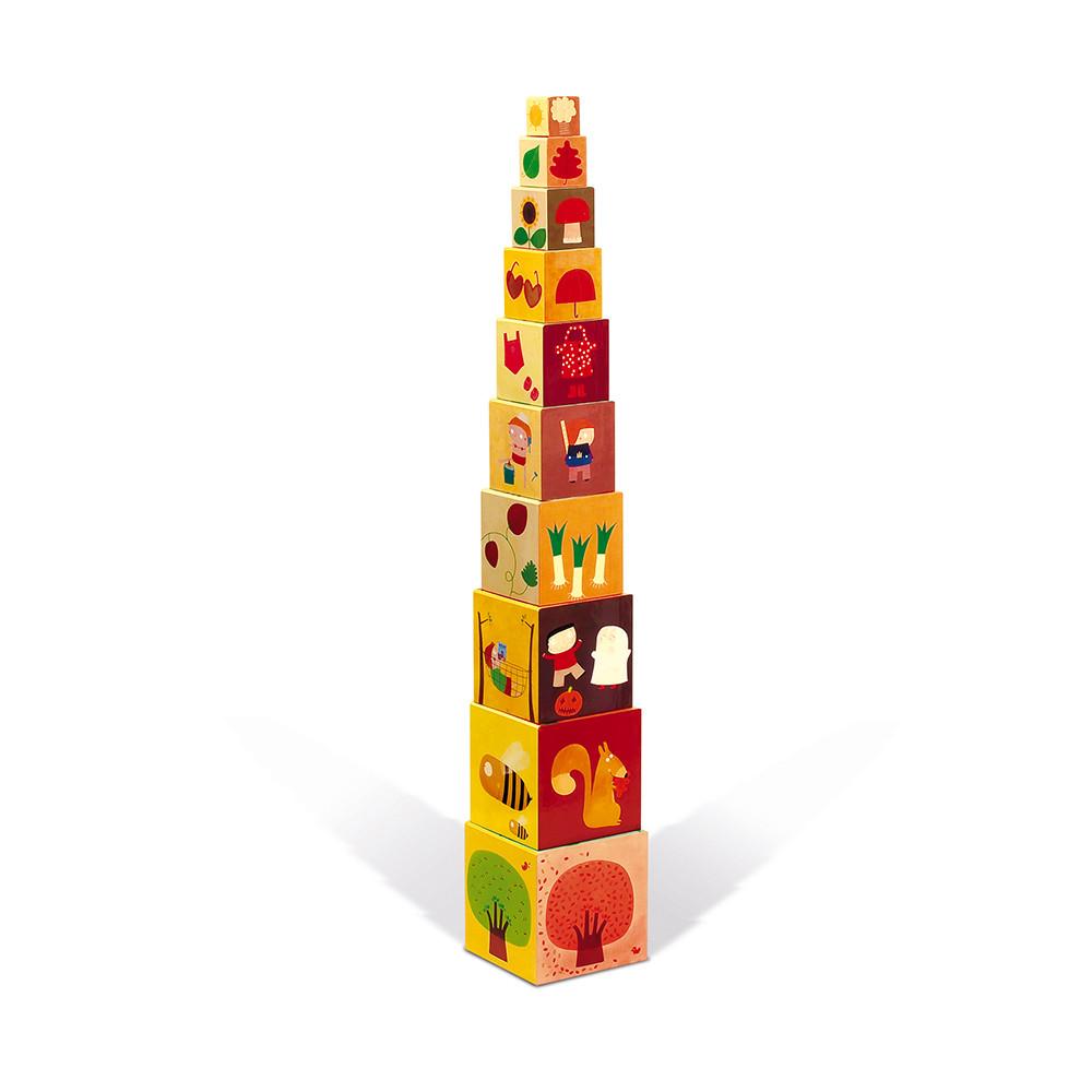 Пирамида от картонени кубчета - Сезони от Janod-bellamiestore