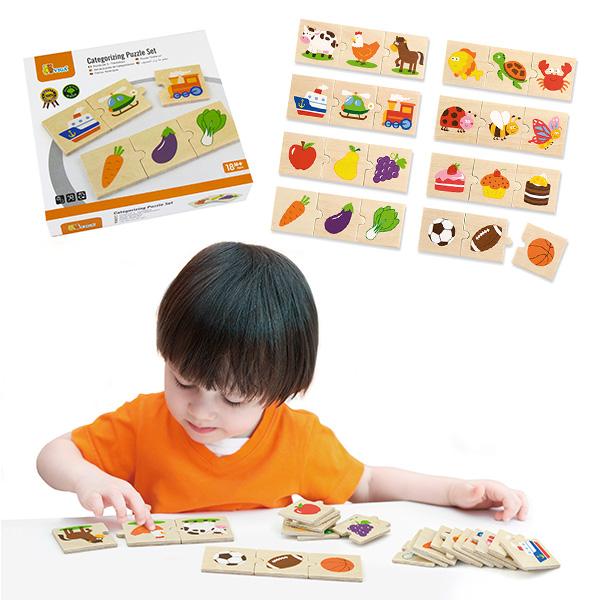 Детски дървен пъзел за категоризиране от Viga toys-bellamiestore