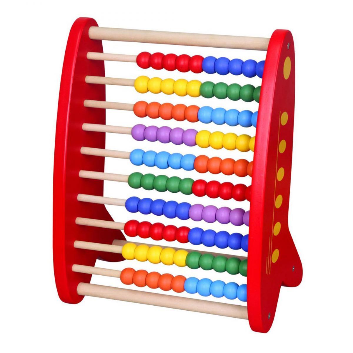 Червено дървено сметало от Viga toys- Wooden Abacus-bellamiestore