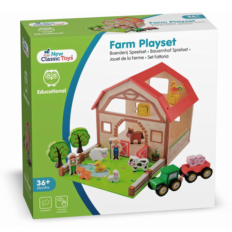 Дървена ферма с животни от New classic toys-bellamiestore