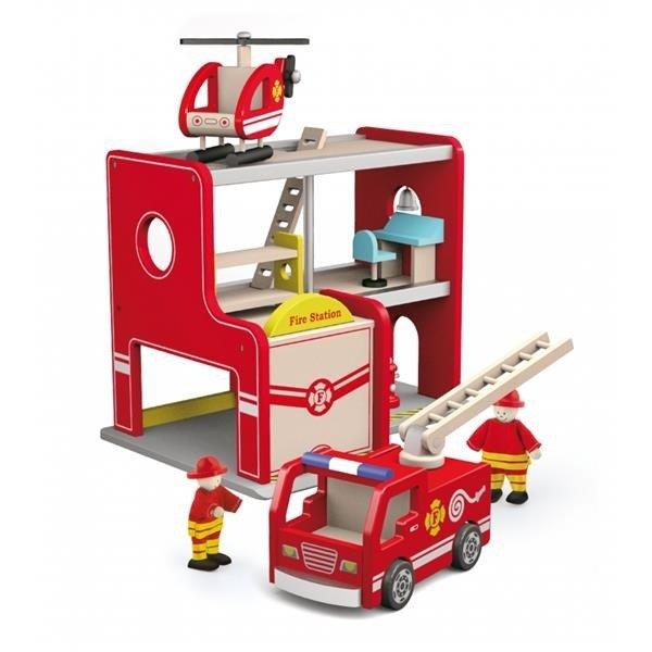Дървена пожарна станция от Viga toys-bellamiestore