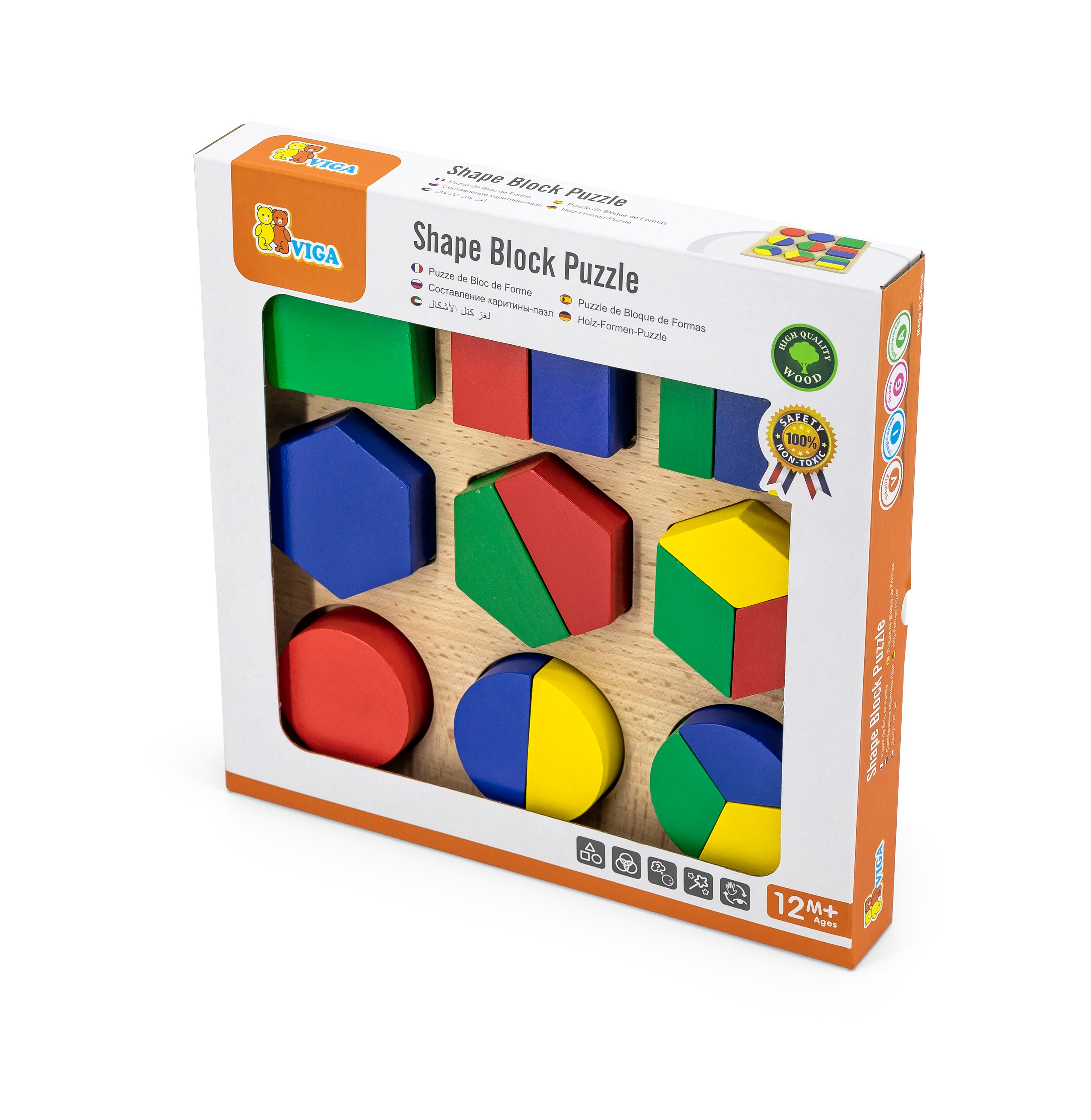 Дървен дидактичен детски пъзел от Viga toys-bellamiestore