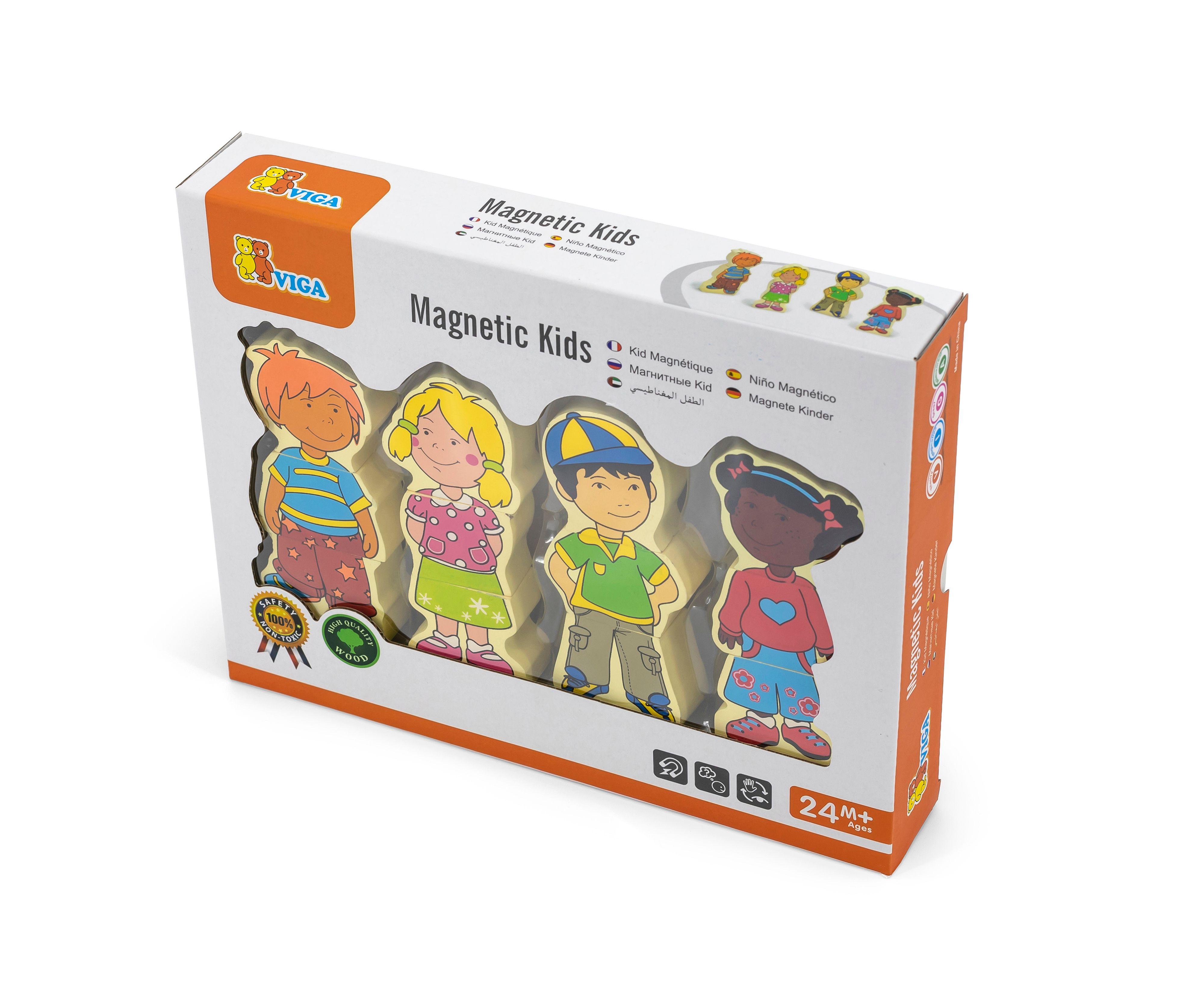 Дървена играчка магнитни деца от Viga toys-bellamiestore