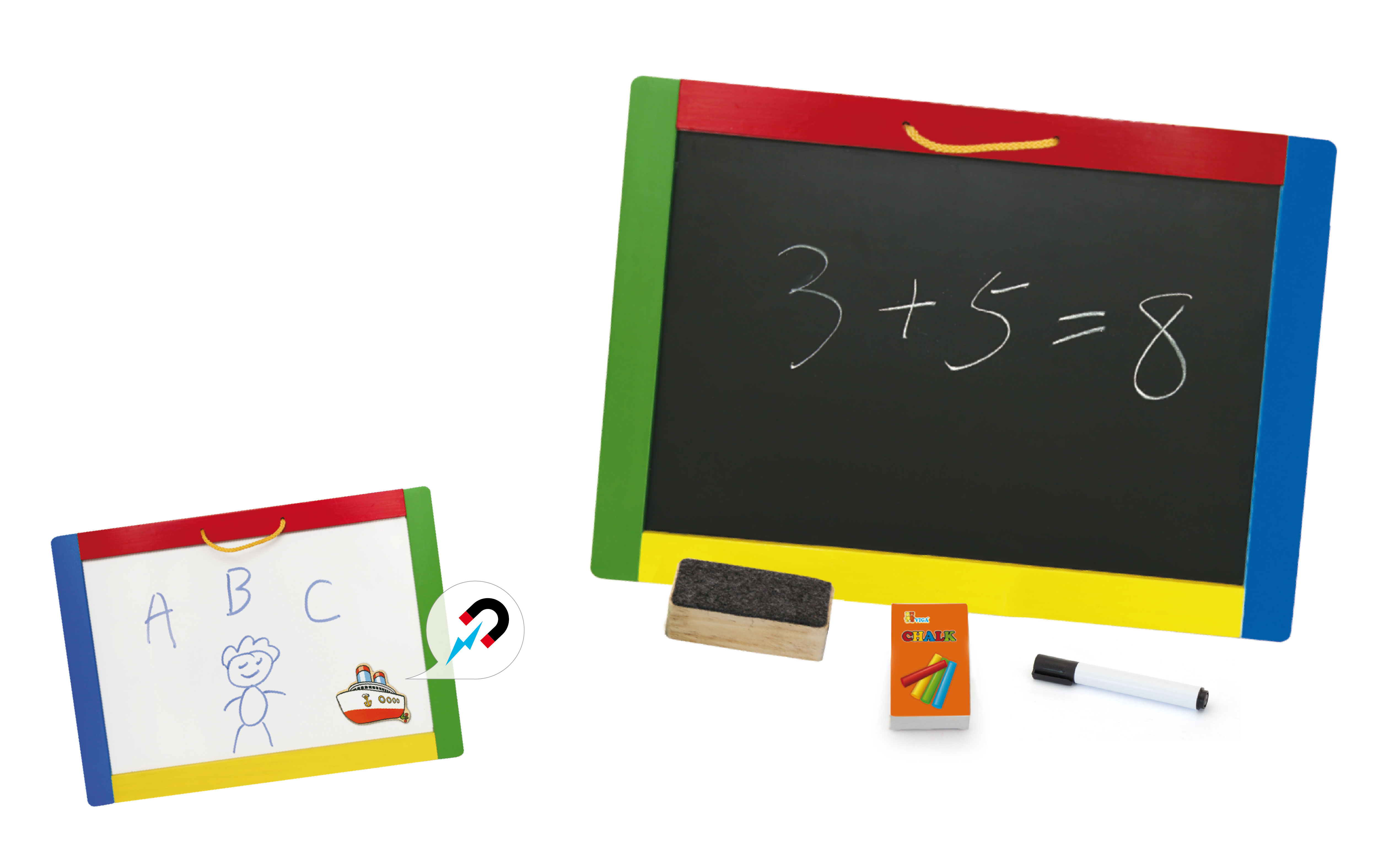 Дървена магнитна дъска с две лица от Viga toys-bellamiestore