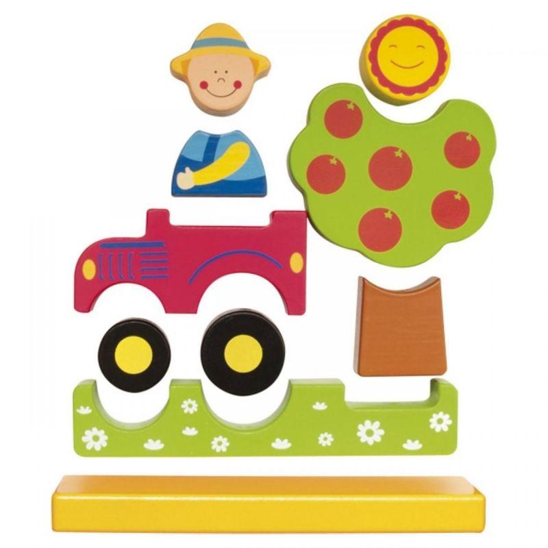 Viga toys дървен магнитен пъзел Фермер-bellamiestore