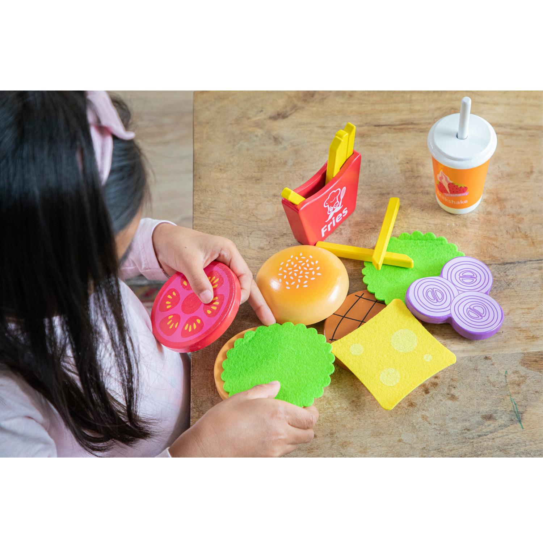 Дървена играчка - Направи си хамбургер от New classic toys-bellamiestore