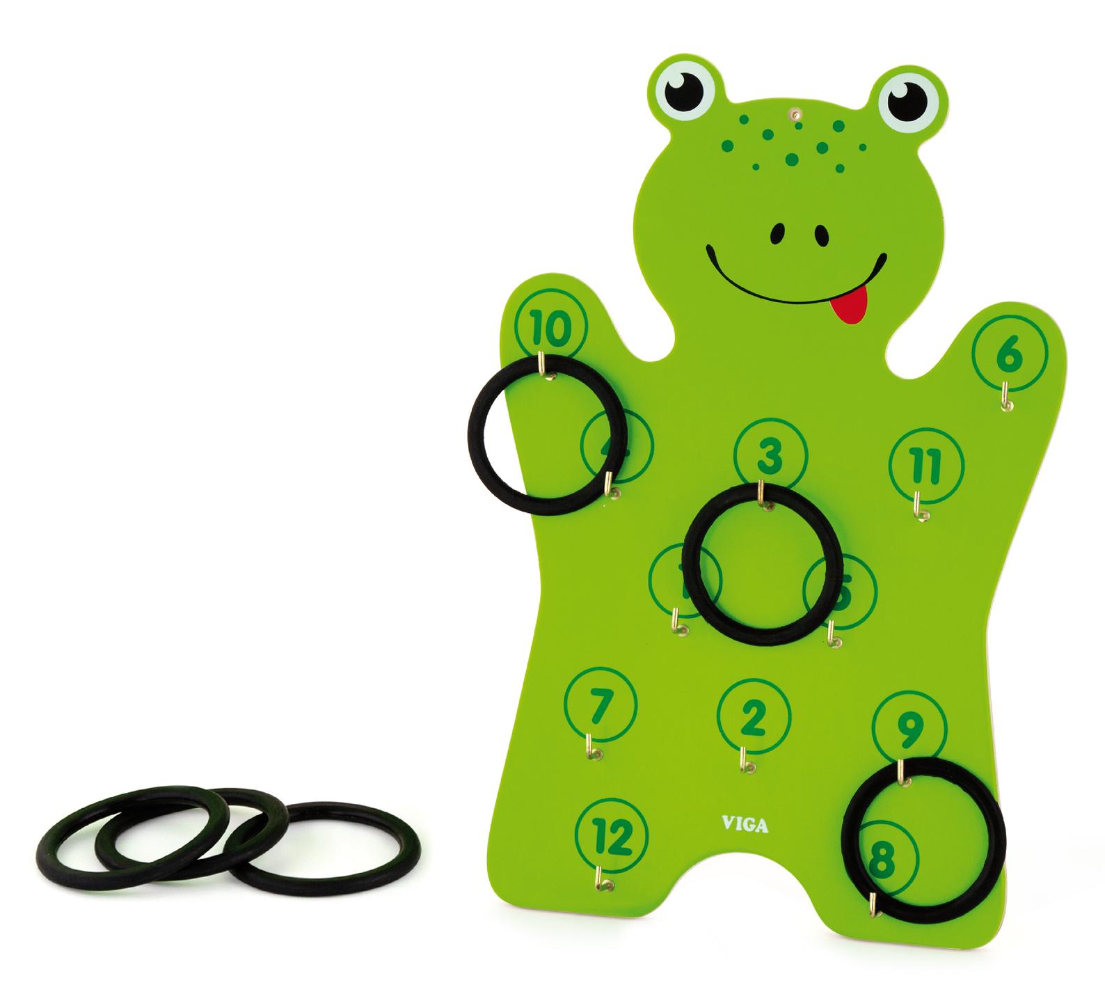 Дървена играчка за координация Жаба от Viga toys-bellamiestore