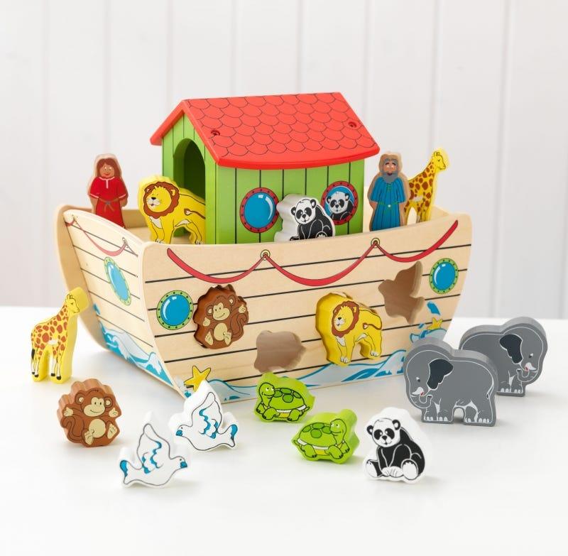 Дървена играчка за сортиране Кораба на Ной от KidKraft-bellamiestore