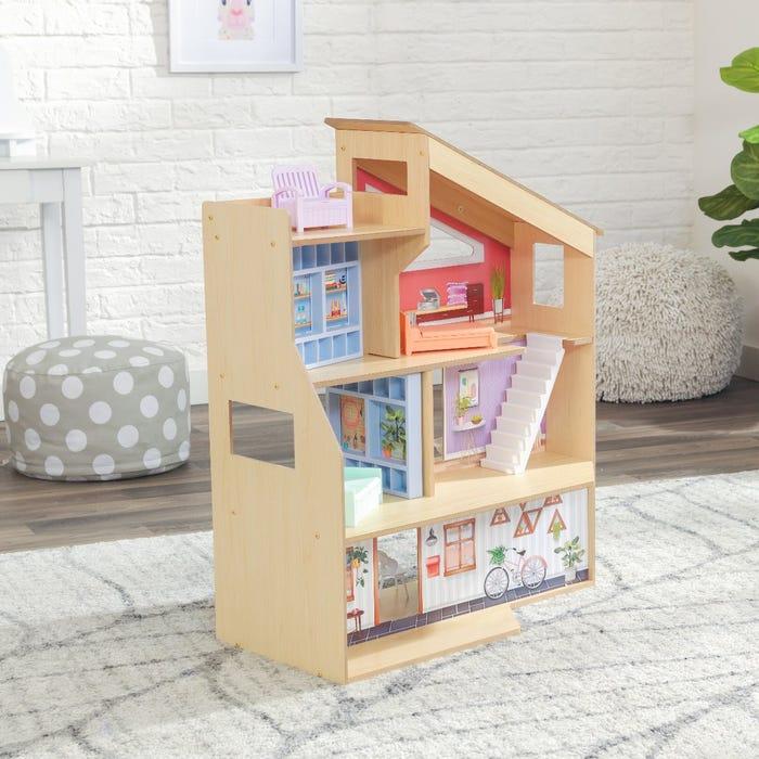 Дървена къщичка за кукли Хейзал от KidKraft-bellamiestore