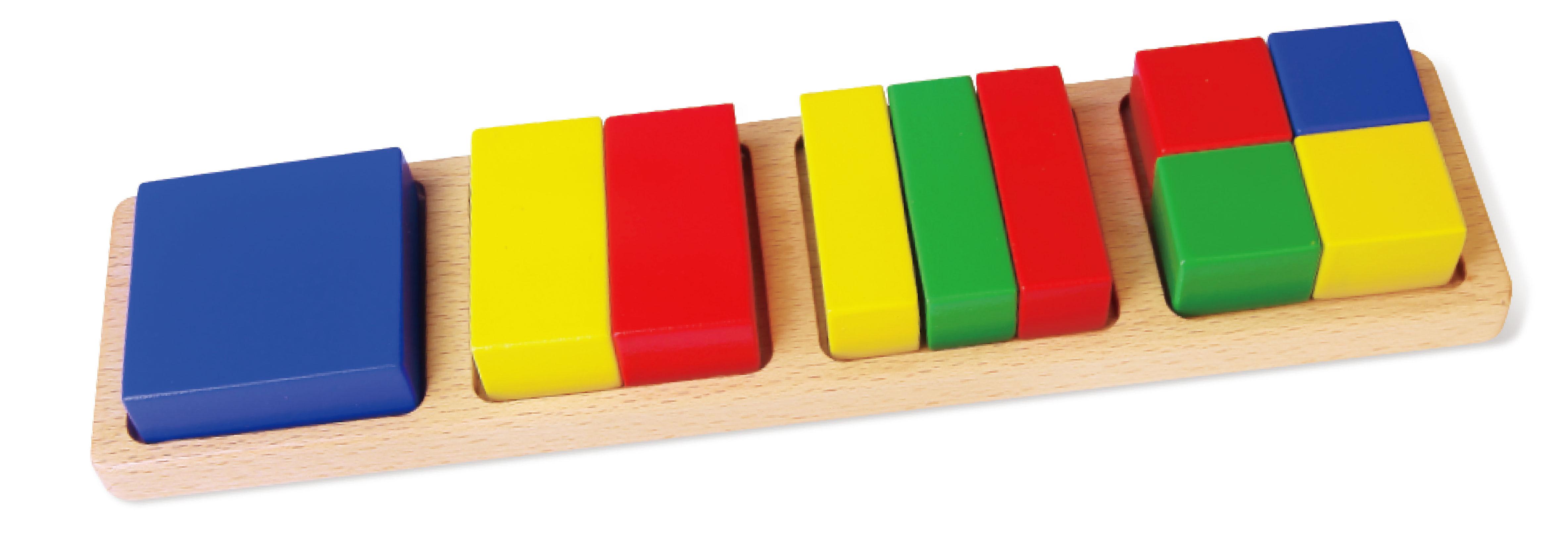 Дървени дидактични фигури с квадрати от Viga toys-bellamiestore