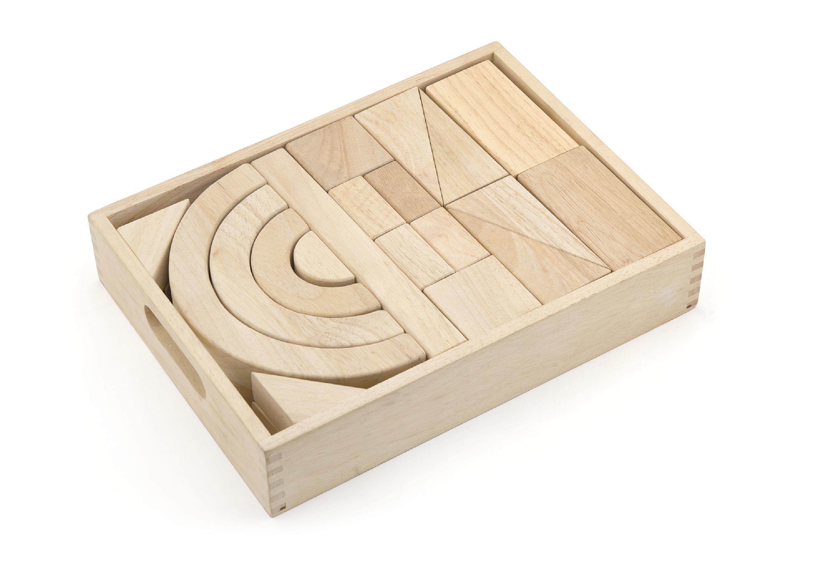 Детски дървен конструктор от бук Viga toys-bellamiestore