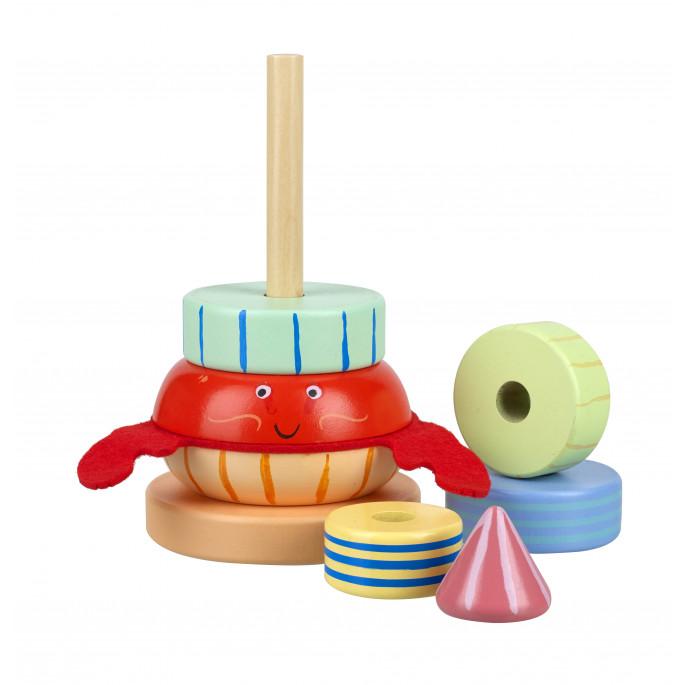 Дървена играчка с рингове Веселото Раче-bellamiestore
