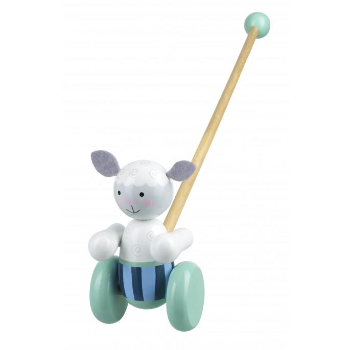 Дървена играчка за бутане Овчица-bellamiestore