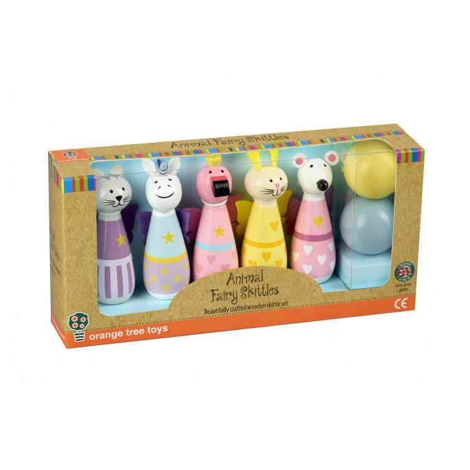 Детски боулинг с феи животни - дървена играчка от Orange tree toys-bellamiestore