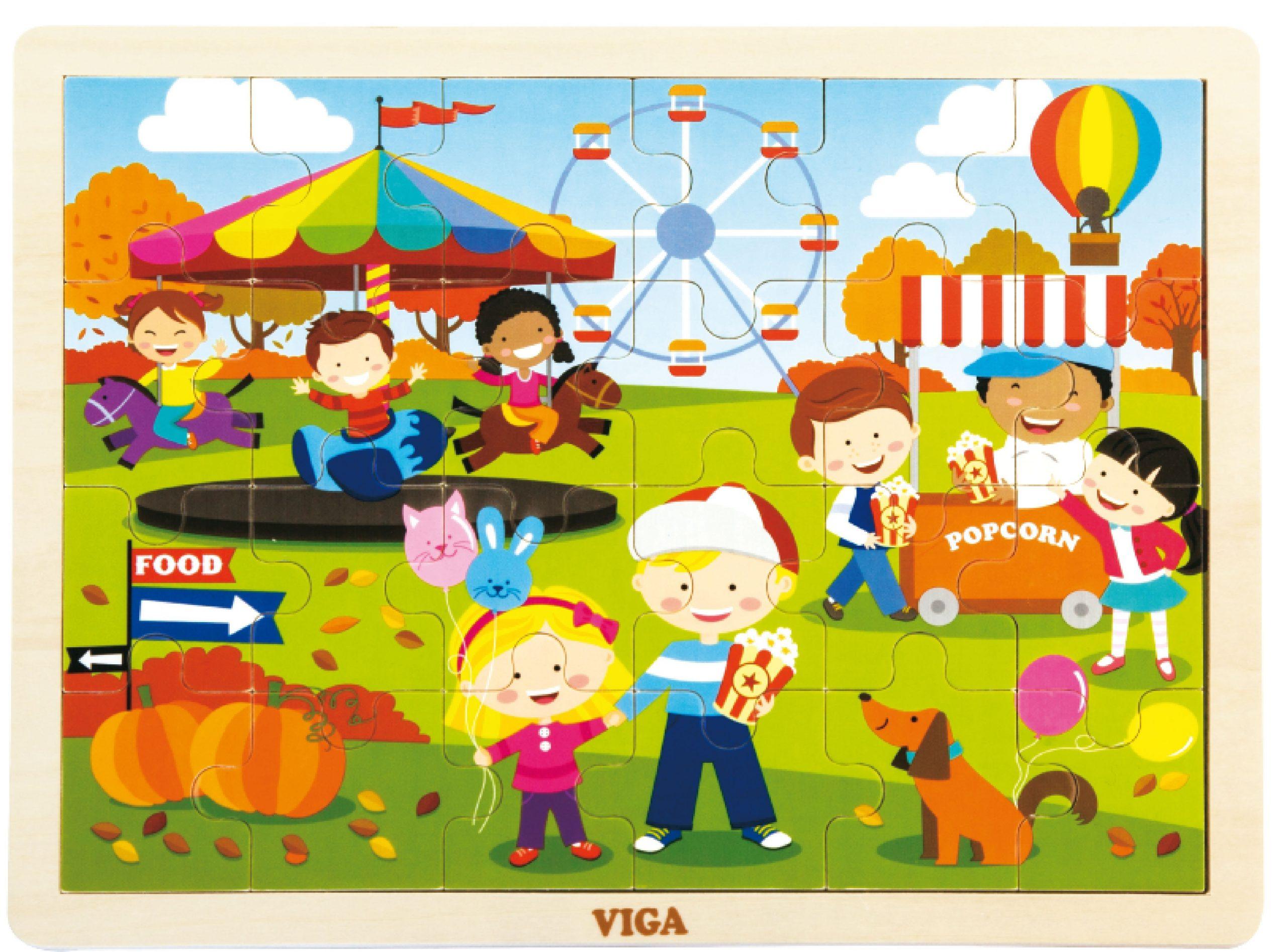 Детски дървен пъзел Есен от Viga Toys-bellamiestore