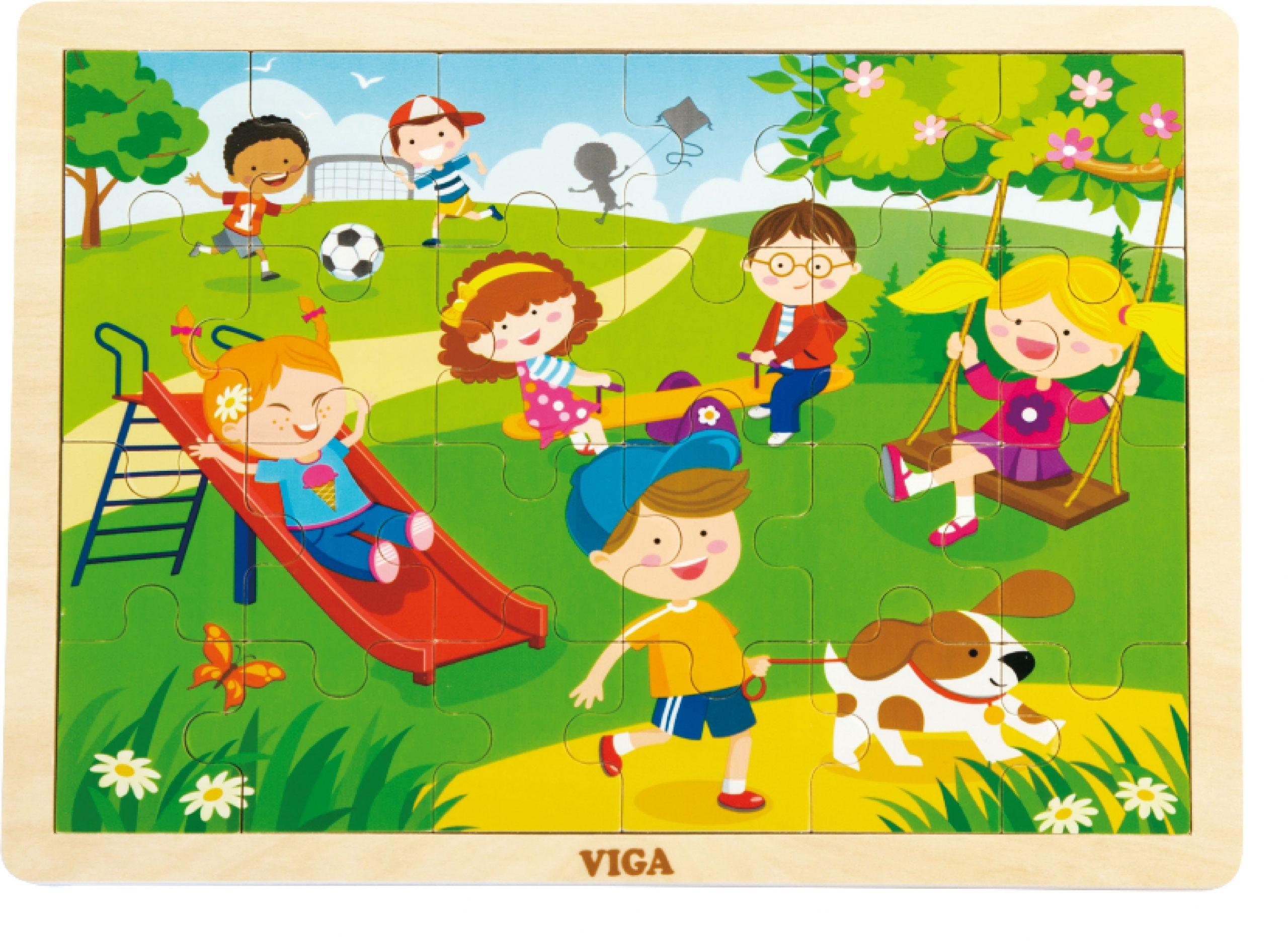 Детски дървен пъзел Пролет от Viga Toys-bellamiestore