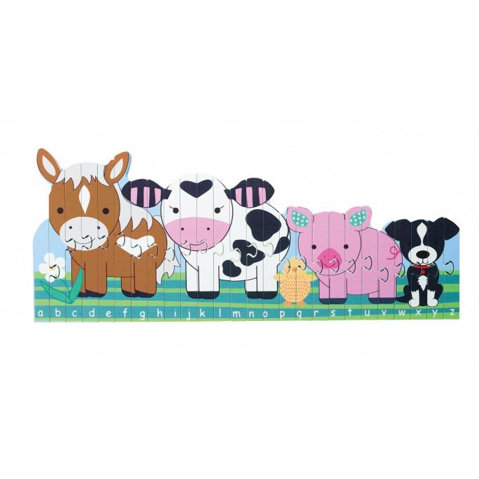 Детски образователен пъзел ABC с животни-bellamiestore