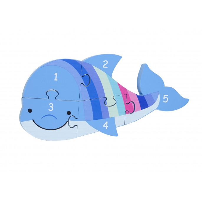 Детски пъзел с цифри Делфинче от Orange tree toys-bellamiestore