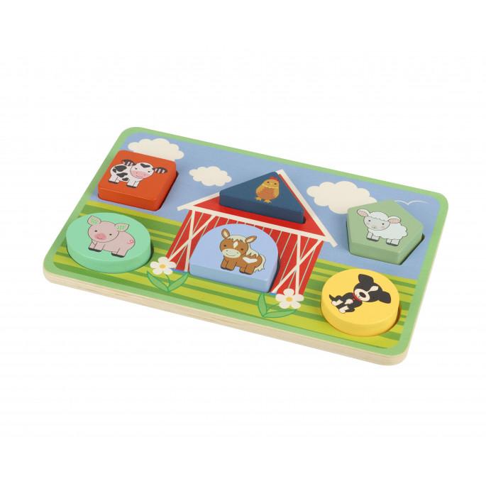 Детски пъзел с форми Фермата от Orange tree toys-bellamiestore