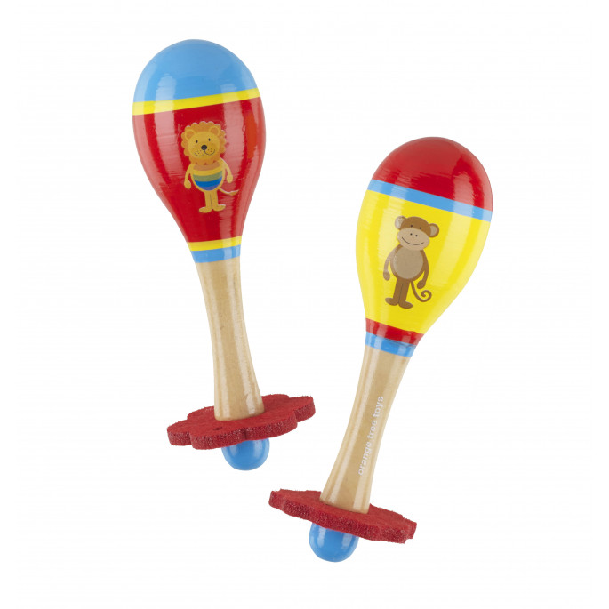 Комплект маракаси с Лъвче и Маймунка-bellamiestore