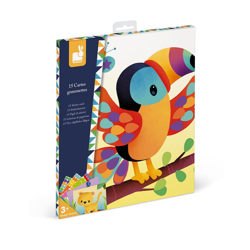 Janod - Творчески комплект - Стикери с животни-bellamiestore