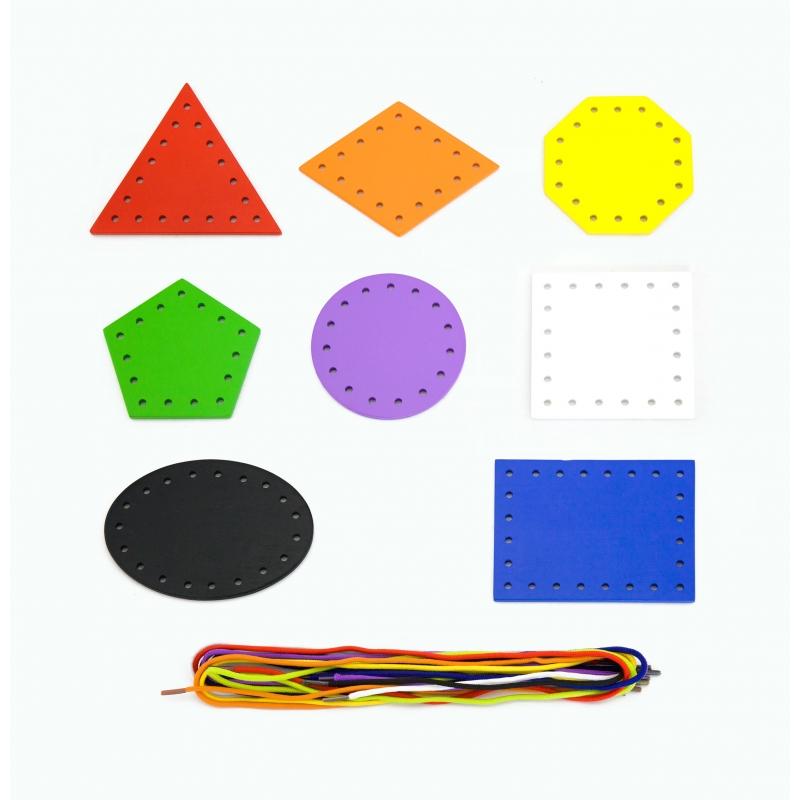 Дървени геометрични форми за промушване от Viga toys-bellamiestore