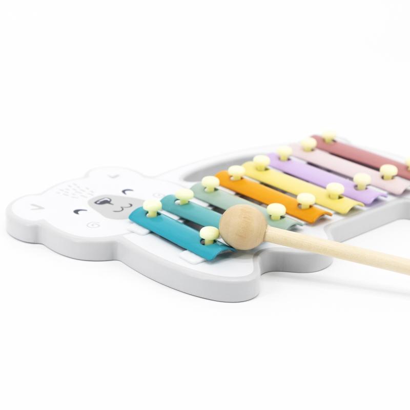 Дървен детски ксилофон Мече Polar B от Vigatoys-bellamiestore