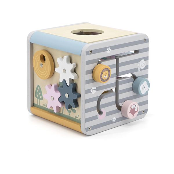 Дървен дидактически куб Polar B- bellamiestore