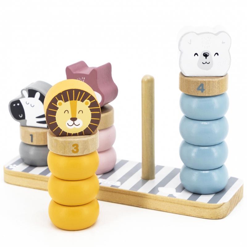 Дървена игра - Рингове за нанизване Polar B-bellamiestore